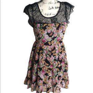 Lipsy London Floral Print Dress